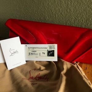 Christian Louboutin Bags - AUTHENTIC Christian Louboutin Red Leather Clutch
